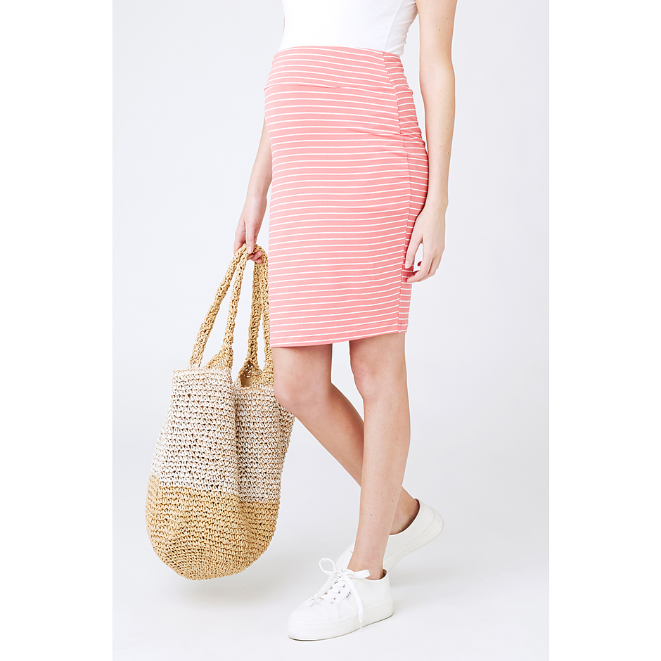more on Ripe Mia Stripe Skirt S4641 Coral