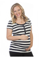 more on Ninth Moon Breastfeeding Stripe Button Top 798