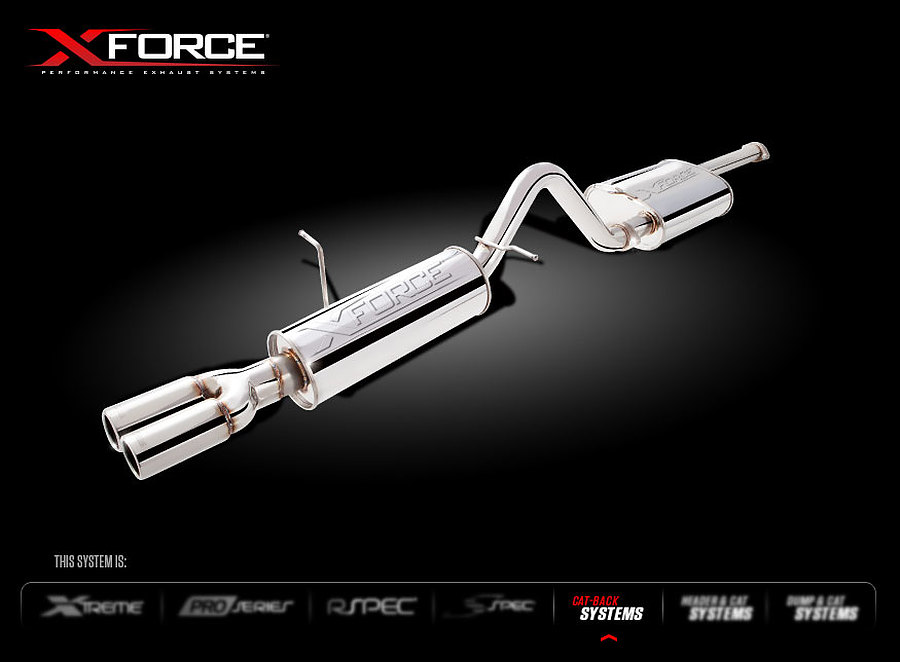 "Ford Falcon (BA-BF-FG) XR6 NA Ute 2.5"" Cat-Back System - Raw Finish 409 Stainless Steel - Image 1"