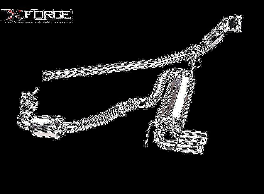 """XFORCE VW GOLF GTi MK5 3.0"""" Cat-Back System Stainless Steel - Image 1"""