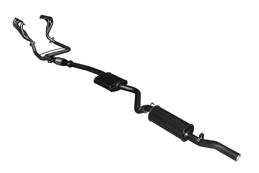 "Manta Aluminised Steel 2.5"" Single Full System With Extractors (quiet) for Holden Commodore VP, VR 3.8 Litre V6 Sedan, Independent Rear Suspension - Image 3"
