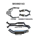 """more on Manta Aluminised Steel 2.5"""" Dual Full System With Extractors (medium) for Holden Monaro V2 5.7 Litre V8 Coupe (including  HSVs)"""