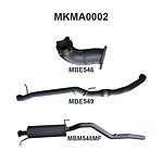 """more on Manta Aluminised Steel 3.0"""" without Cat full-system (medium) for Mazda BT50 3.0L CRD Manual, 2006 - 2011"""