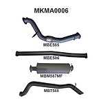 """more on Manta Aluminised Steel 3.0"""" without Cat full-system (medium) for Mazda BT50 3.2 Litre CRD October 2011 - 2016 (without DPF)"""