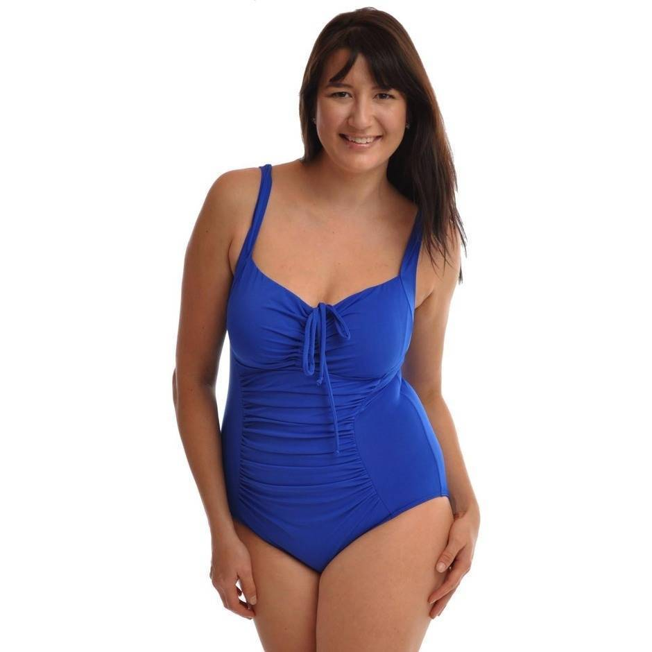 One Piece with Gathering Chlorine Resist Cobalt - Image 1
