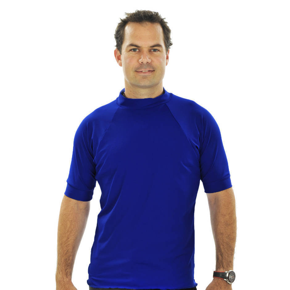 Mens Short Sleeve Rash Shirt - Navy - Image 1