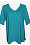 Photo of V Neck Rash Shirt - Teal Chlorine Resist