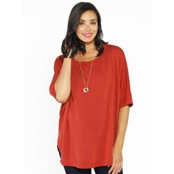 more on Angel Breastfeeding Double Layer Nursing Top Persimmon Red AC20D