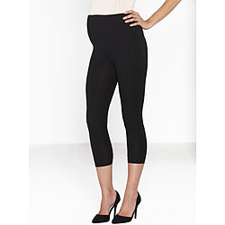 more on Angel Basic Maternity Foldable Waist 3/4 Length Capri Legging Black 1P25SB