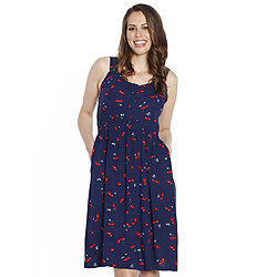 more on Angel Maternity Summer Rayon Breastfeeding Dress Cherry Print 840C