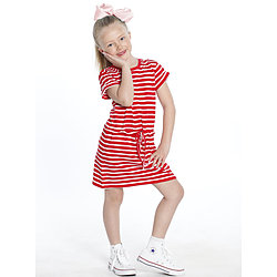 more on Angel TDD The Daughter Drawstring Dress Red and White Stripes JK801F