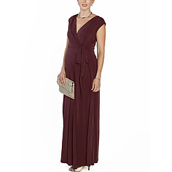more on Angel Maternity Nursing V-Neck Long Maxi Party Dress Red N859LD