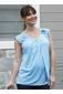 more on Angel Cap Sleeve Petal Front Top Sky Blue N228D