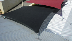 Shade sail roof mounts