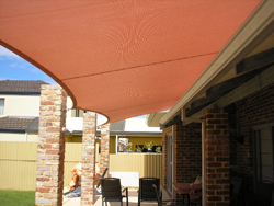 Shade sail uses roof mounts