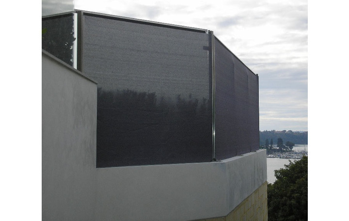 Photograph of Privacy screen with a V Grip frame allows owners to comply with Council overlooking regulations.
