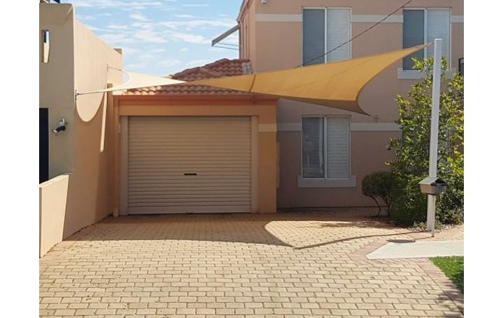 Photograph of Shade sail for a carport 