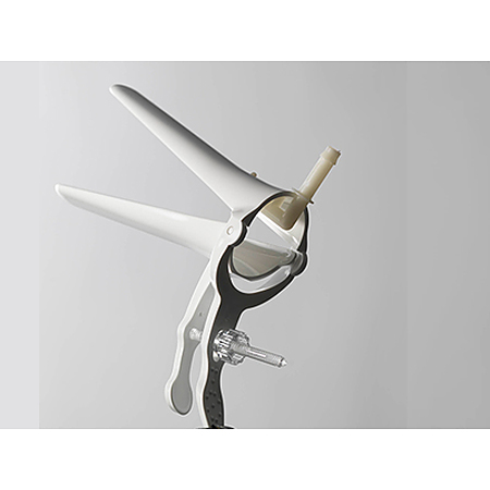 Sterile Single Use Vaginal Speculum with Smoke Extractor (Medium) - Image 3