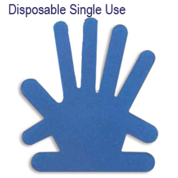 Sterile Single Use Aluminium Hands (Large) - Image 1