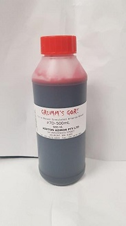 Grumm's Gore - Simulated Arterial Blood 500mL - 7D-500 - Image 1