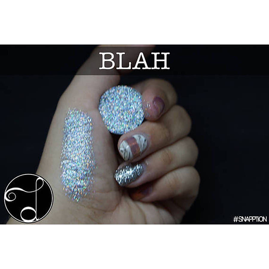 Pressed Glitter - BLAH - Holographic Silver - Image 1