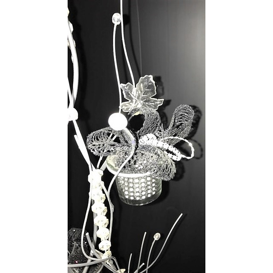 Metal silver tree centre piece - Image 2