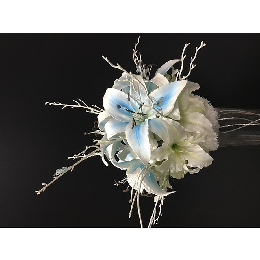 120cm Centrepiece blue white lilium vase - PICK UP ONLY FROM PERTH STORE - Image 2