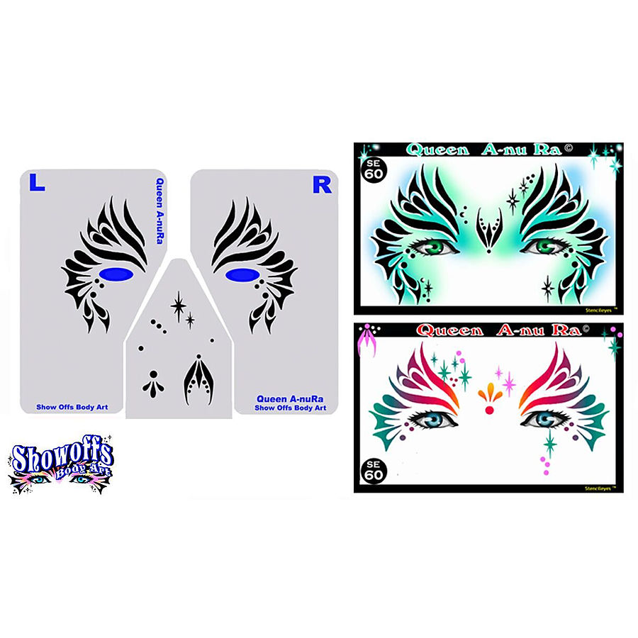 STENCIL EYES - Queen A-nu Ra - Child Size 60SE - Image 1