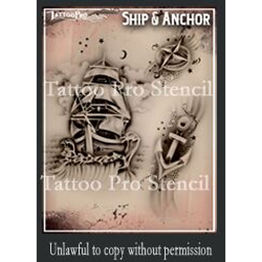 Tattoo Pro - Ship and Anchor - Image 1