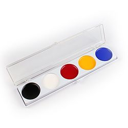more on 5 Color Palette (Cream Makeup- with yellow)  1.25oz (35g)