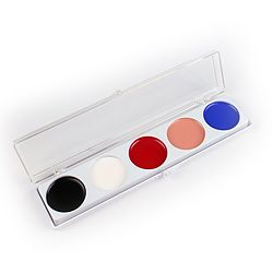 more on 5 Color CLOWN Makeup Palette (Cream Makeup)  1.25oz (35g)