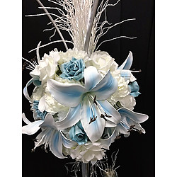 more on Blue lilium large in pewter vase