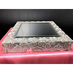 more on Silver bejewelled base - silver