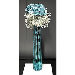 more on Vase with turquoise roses - turquoise