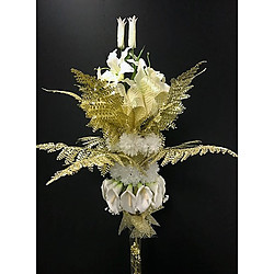 more on 130cm White gold centrepiece - PICK UP ONLY FROM PERTH STORE
