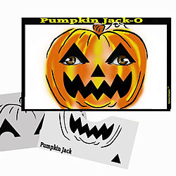 more on STENCIL EYES - Pumpkin Jack-O 54SE