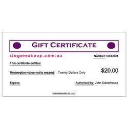 more on $20.00 GIFT VOUCHER