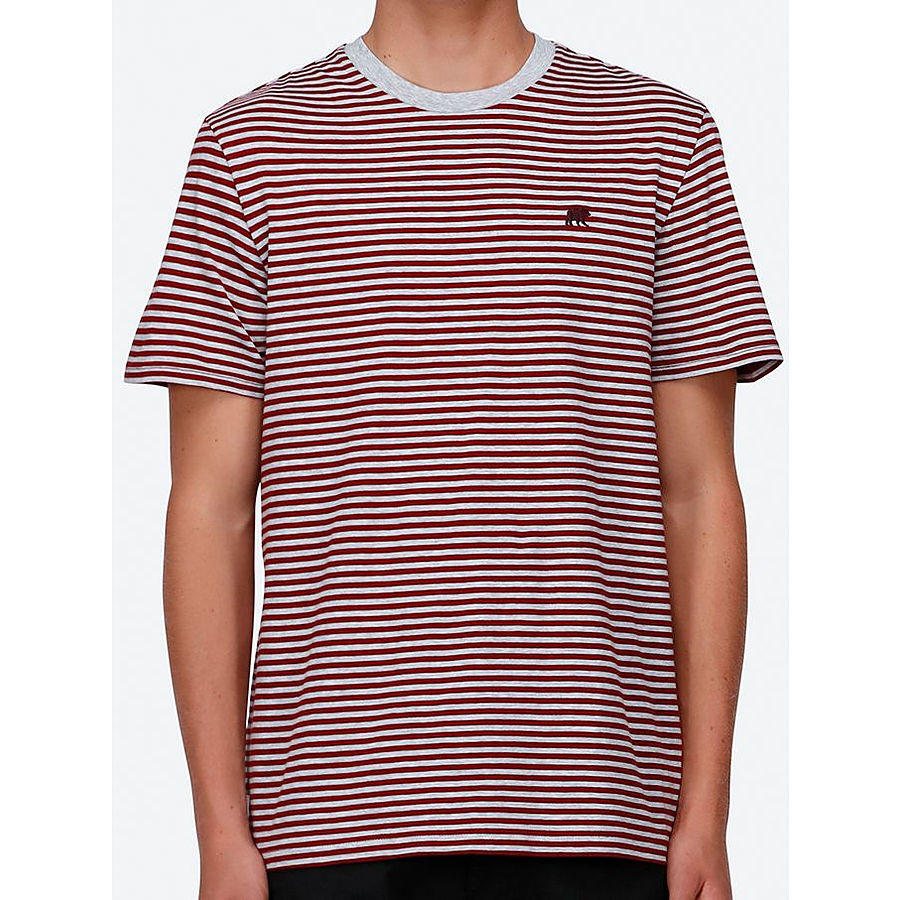 Element Malcolm SS Mens Tee Burgundy - Image 1