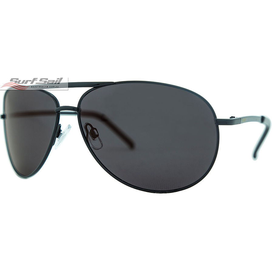 Venture Eyewear Viper Gloss Black Smoke Polarised Sunglasses