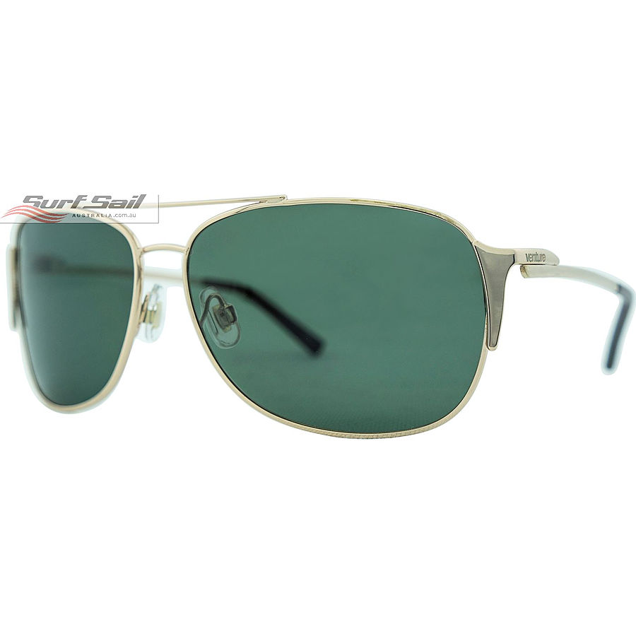 Venture Eyewear Maverick Gold Green  Polarised Sunglasses