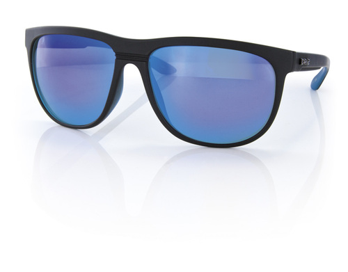 Carve Eyewear Matrix Matte Black Blue Revo Sunglasses - Image 1