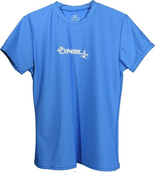 Oneill 6oz Basic Skins SS Ladies Crew Rash Tee Blue