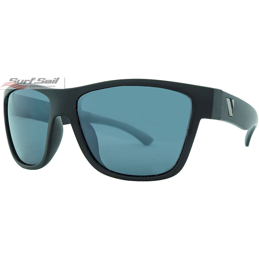 Venture Eyewear Escape Matte Black Smoke Flash Mirror Polarised Floating Sunglasses - Image 1