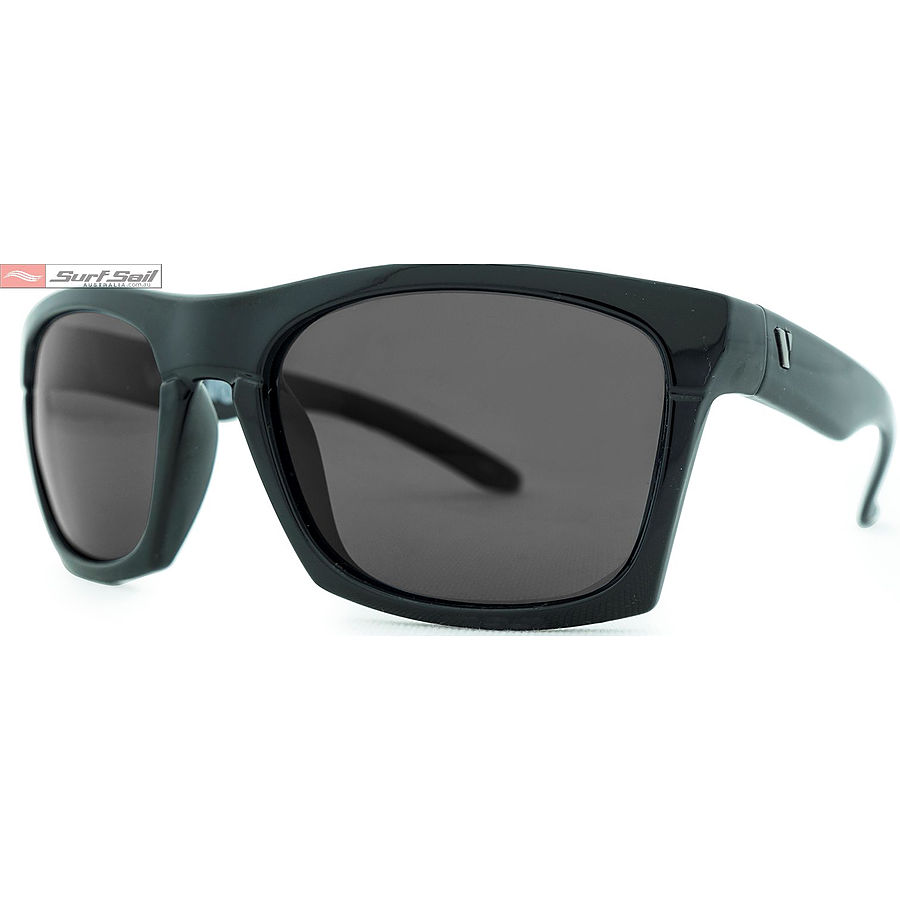 Venture Eyewear Base Camp Gloss Black Smoke Polarised Sunglasses - Image 1
