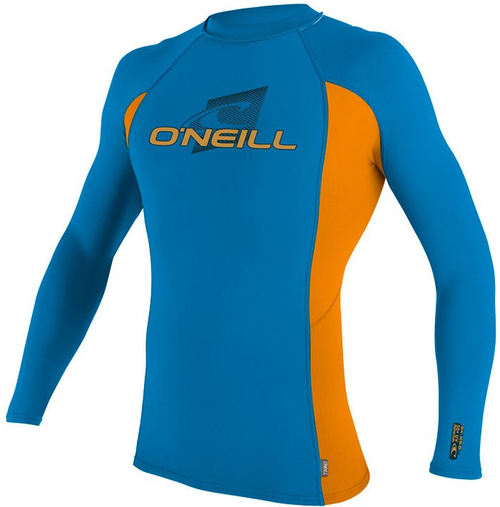 Oneill Youth Skins LS Crew Blue Orange