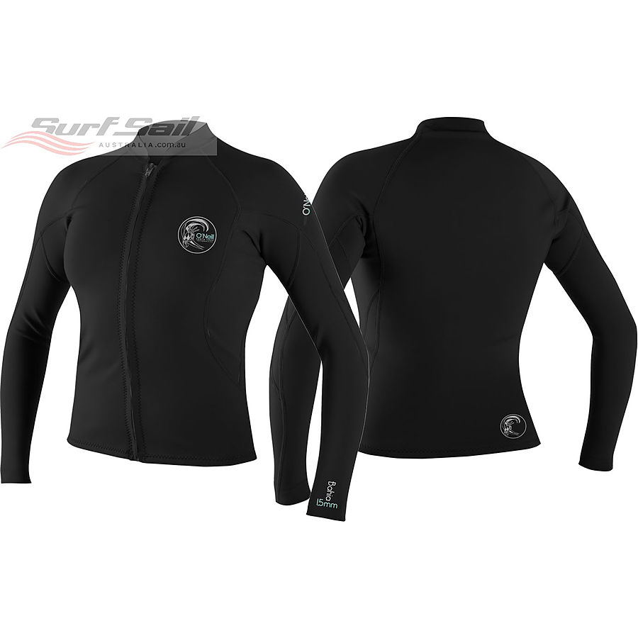 Oneill Womens Bahia LS Full Zip 1.5 mm Jacket Black