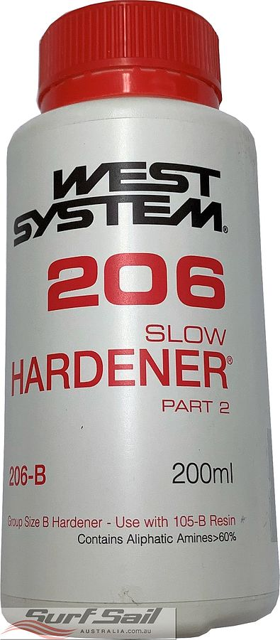 West System Epoxy Resin Hardener Only 200 ml H206