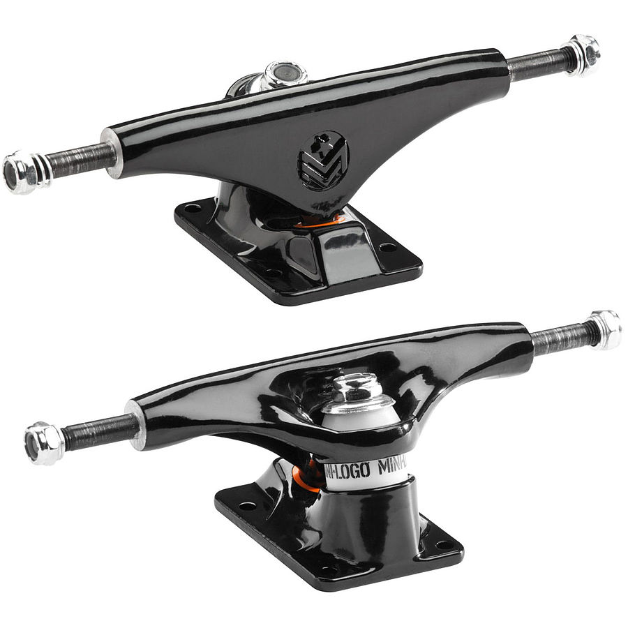 Mini Logo Skateboard Trucks Black 8.25 Inch