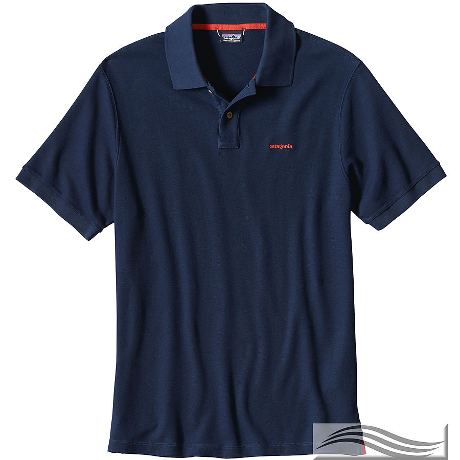 Patagonia Men's Belwe Pique Polo Navy