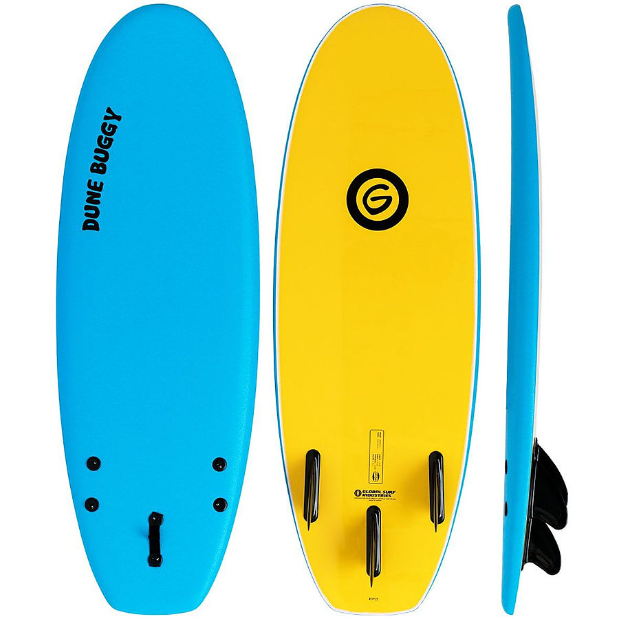 Gnaraloo Dune Buggy Blue Yellow Soft Surfboard 4 ft 10 inches - Image 1